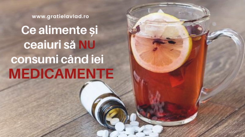 Ce alimente si ceaiuri SA NU CONSUMI cand iei medicamente 💊!