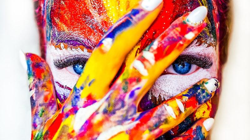 culori, pictura pe fata, limbajul culorilor,